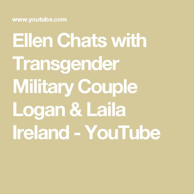 Ellen Chats with Transgender Military Couple Logan & Laila Ireland - YouTube