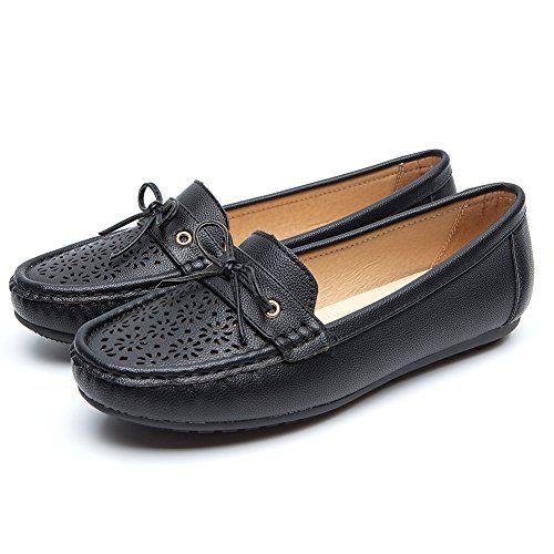 nouvelle arrivee 39076 0e842 Chaussures Plates Cuir Mocassins pour Femmes - Mesdames ...