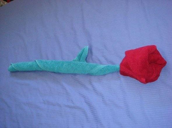 Towel Origami Flower