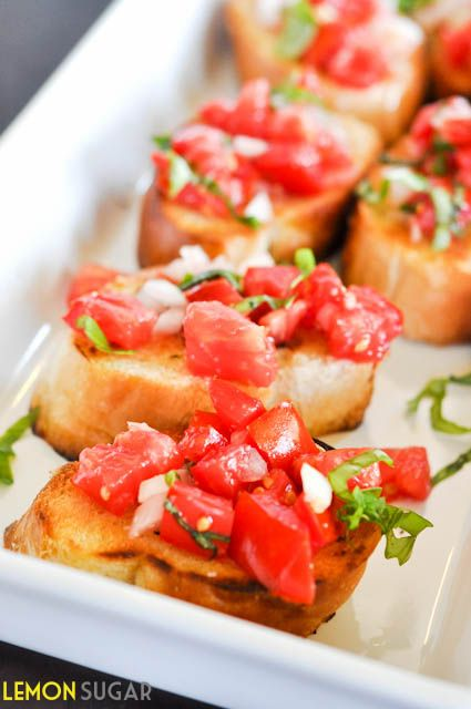 Tomato and Basil Bruschetta #Yum #Foodie