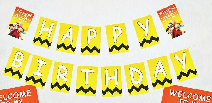 the peanuts movie printable birthday sign