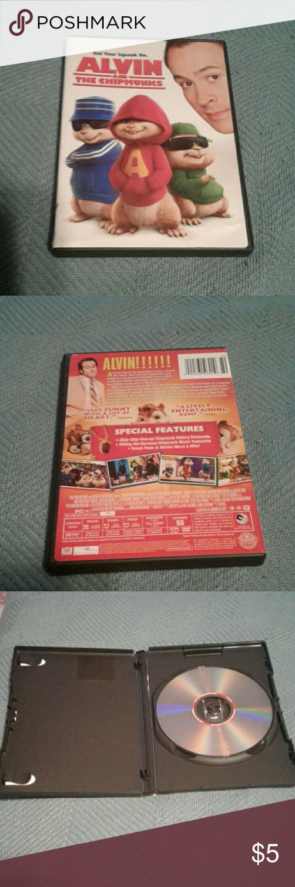 Alvin And The Chipmunks Live Action DVD Selling because I have it twice. One of my daughter's favorites. Used condition. Alvin And The Chipmunks Other