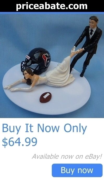 Wedding Cakes Toppers: Wedding Cake Topper Houston Texans Football Bride Themed Groom Sports Fans Funny BUY IT NOW ONLY: $64.99 #priceabateWeddingCakesToppers OR #priceabate