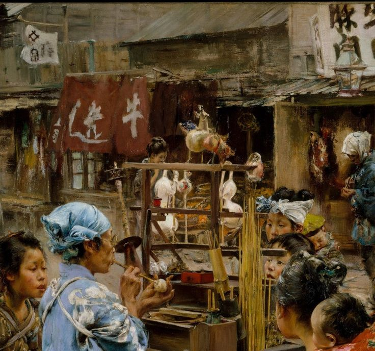 Old Tokyo Comes to Life in Colorful Paintings by Robert Frederick Blum