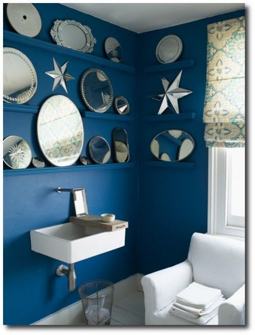 Great Inspiring Bathroom Design With Blue And White Bathroom Accessories:  Inspiring Blue Bathroom Design Ideas