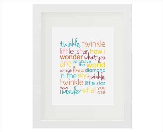 Twinkle Twinkle Little Star Art Print Song by ExpressiveSprouts