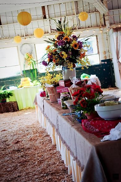 banquet food table displays | food table at reception « Weddingbee Gallery