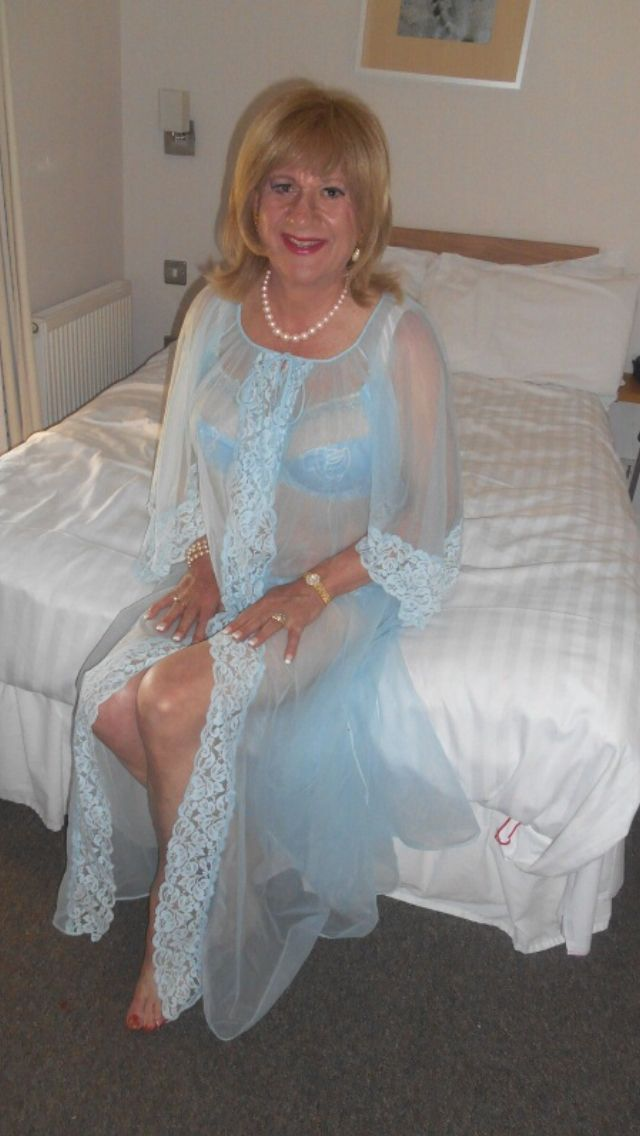 Mature Women In Satin Nightie