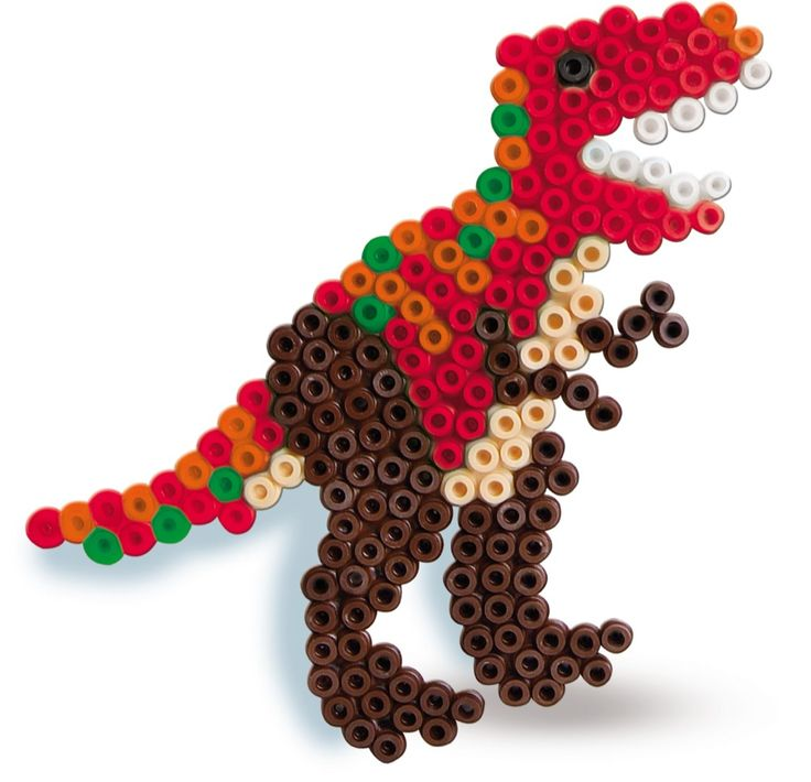 SES Iron on beads T-Rex #irononbeads #dino #strijkkralen