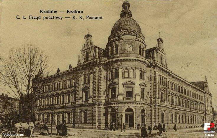 Lata 1910-1920 , Poczta Gówna w Krakowie.