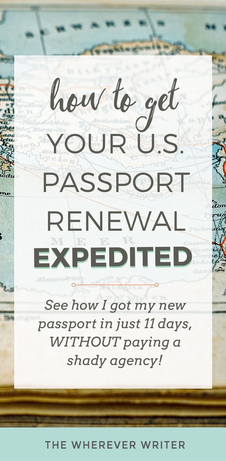 How To Get A Us Passport Renewal Expedited By Mail (without Paying A Shady  Agency