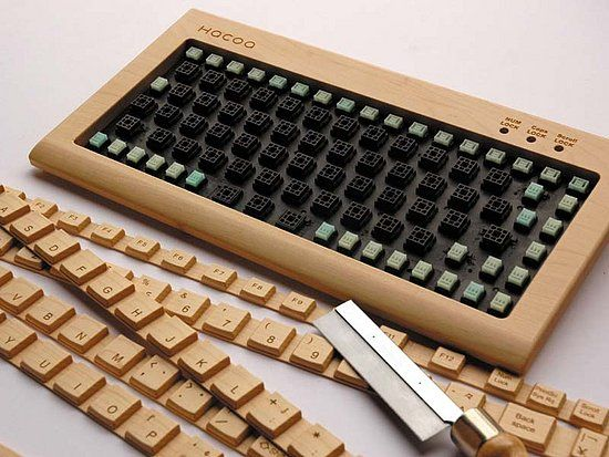 DIY Wooden Keyboard
