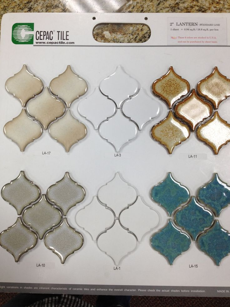 Glass moroccan style tile for backsplash in kitchen...Bottom left grey...and change up countertop with light coloured quartz.