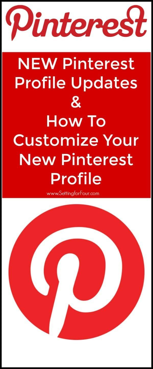 Take a look at the new Pinterest profile updates, what's changed on your Pinterest profile and how you can customize your new Pinterest profile! #Pinterest #blogging #socialmedia #entrepreneur
