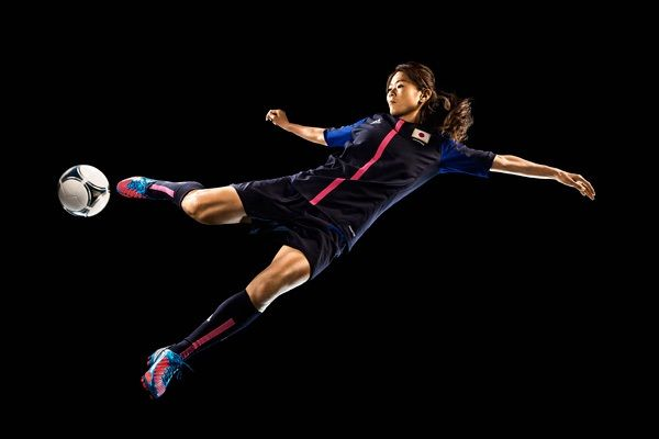 """Photo-Illustration by Adam Pretty for TIME """"Homare #Sawa lifted Japan with a World Cup win - and put women's football on the map"""" #Nadeshiko"""