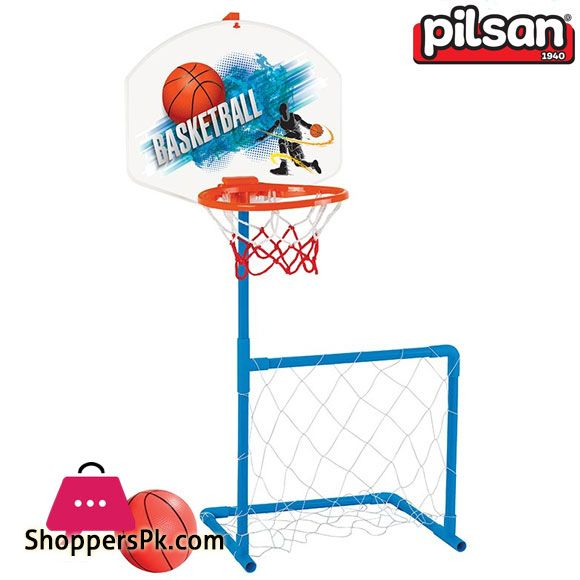 Pilsan 2 In 1 Basket Football Set Turkey Made 03 392 Price Rs 2300 Buy Now Https Www Shopperspk Com Product Pilsan In 2020 Kids Playing Soccer Table Outdoor Toys