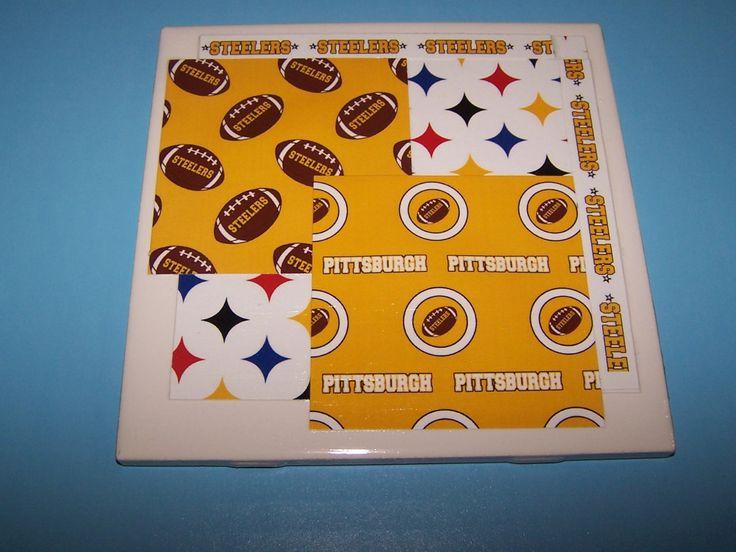 Pittsburgh Steelers football art. Steelers fan ceramic tile home decoration. Steelers football bar decoration, desk decoration, home decor. by 1OfAKindCrafts on Etsy
