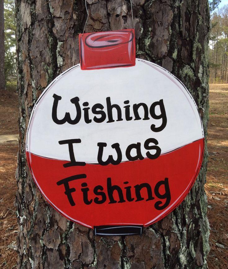 bobber door hanger gone fishing sign by Furnitureflipalabama                                                                                                                                                                                 More