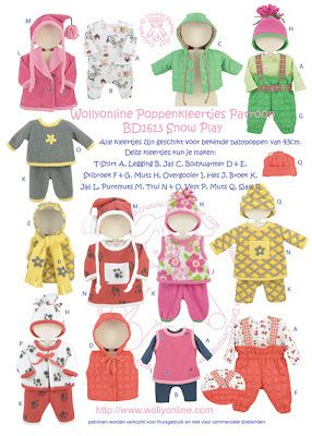 Wollyonline Blog: Snow Play pattern for BABY Born ®* dolls available...