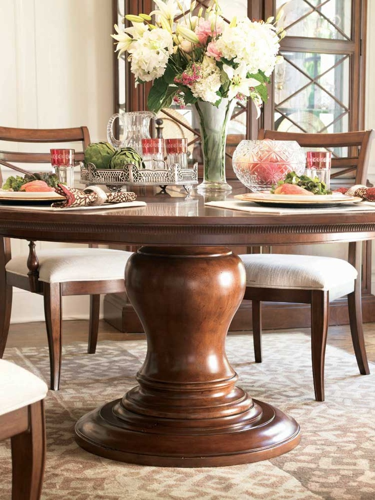 17 Best images about Trestle Tables on Pinterest : 8031ac8e15aa5b28590253feeff163ed round pedestal tables round dining tables from www.pinterest.com size 736 x 981 jpeg 275kB