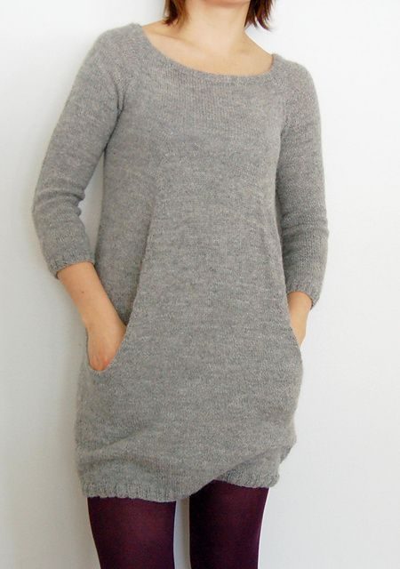Still Light Tunic (or dress) by Veera Välimäki. Fingering weight yarn for a super light sweater that fits any season. Worked in one piece from top down makes checking the fit as you knit possible. Love the pockets.