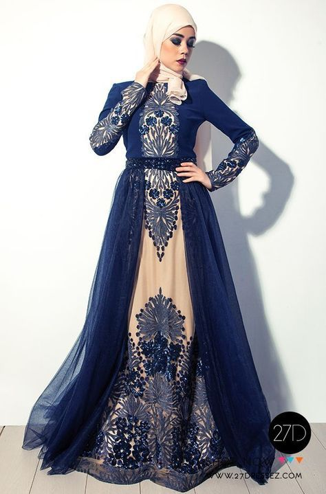 cool Long Sleeved hijab evening dress - Hijab Fashion -27dressez... by http://www.danafashiontrends.us/muslim-fashion/long-sleeved-hijab-evening-dress-hijab-fashion-27dressez/