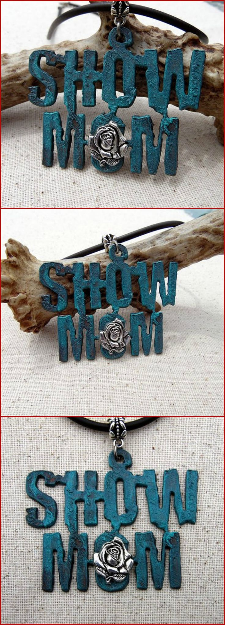Show Mom Necklace. A special gift for that 4-H, FFA, Rodeo, Horse Show or whatever show mom! | Whippoorwill Valley