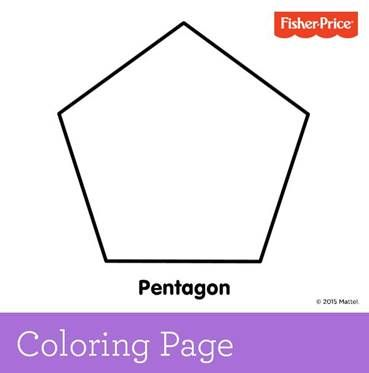 92 best images about coloring pages printables for kids for Pentagon coloring page