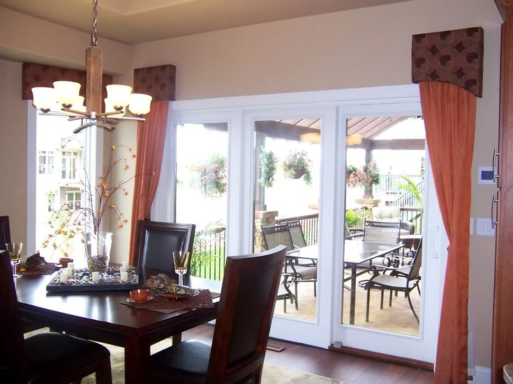 Blinds for French doors | Material, Cost, Color of the Blind -  				patio door window treatments