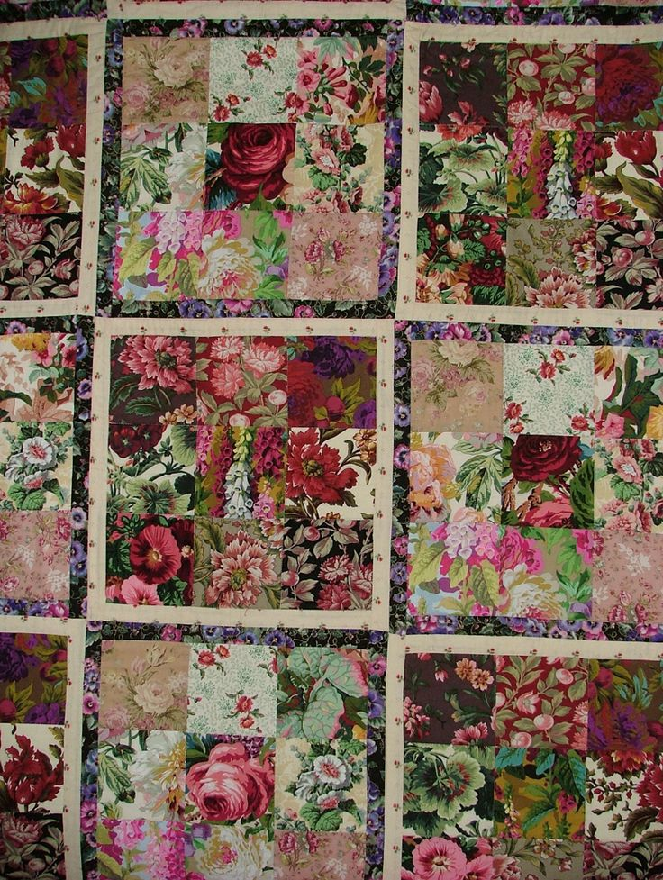 rose quilt - Kaffee Fassett - Summer Glory