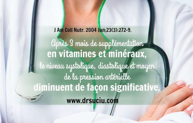 Les vitamines, les minéraux et l'hypertension-drsuciu