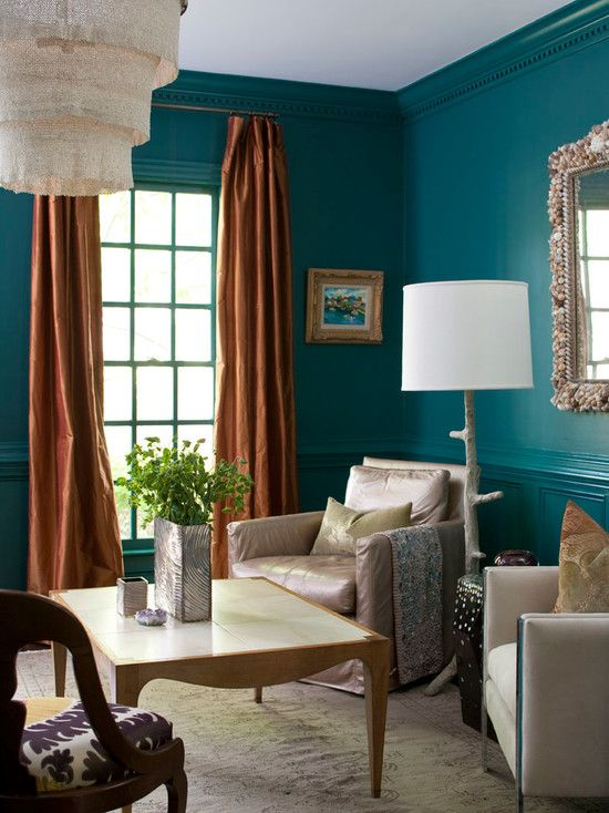 17 best ideas about burnt orange curtains on pinterest for Teal dining room decorating ideas