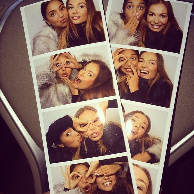 I love taking pictures in a photo booth its so cute and fun!