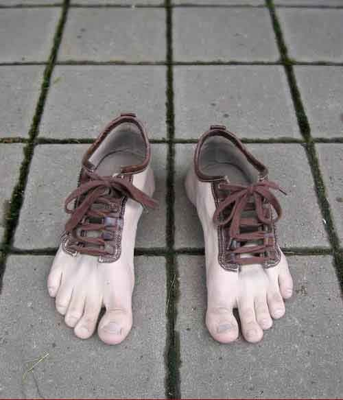 Shoes in the shape of feet