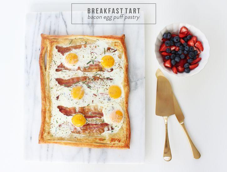 Breakfast Tart {bacon egg puff pastry} #theeverygirlcooks