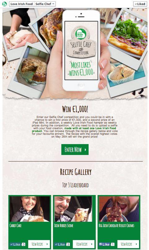 Selfie Chef - Facebook App #loveirishfood