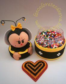 "Los coloretes de eva: Abejita con ""Beads"""