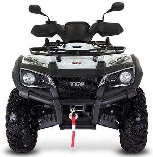 White 1000 LT farm quad front view. The TGB farm quad range offers an excellent choice of specifications and value for money. For more information or a quotation, please visit our website http://www.fresh-group.com/farm-quad.html or call us on 0845 3731 832