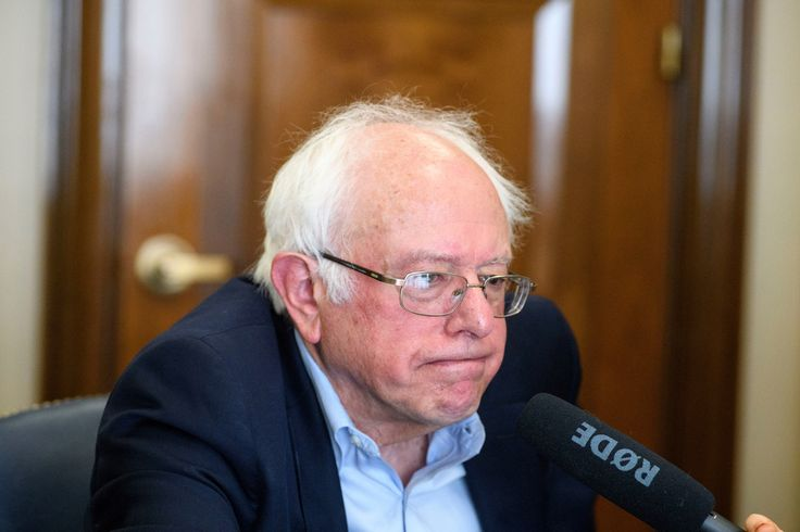 Washington, D.C. - September 20, 2017: Bernie Sanders is interviewed about his foreign policy views in his office at the Dirksen Senate Building in Washington D.C. Wednesday, Sept. 20, 2017.CREDIT: Matt Roth for the Intercept