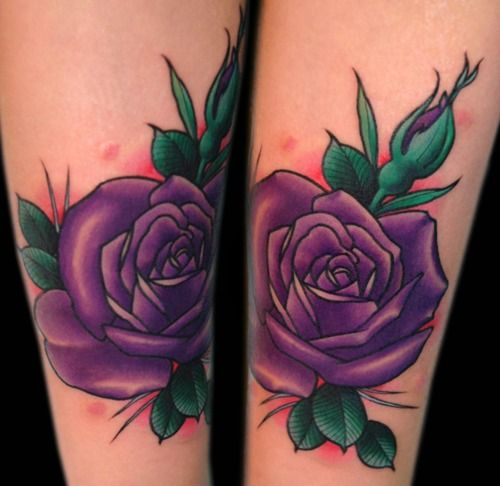 purple rose #tattoos #tattoo #ink
