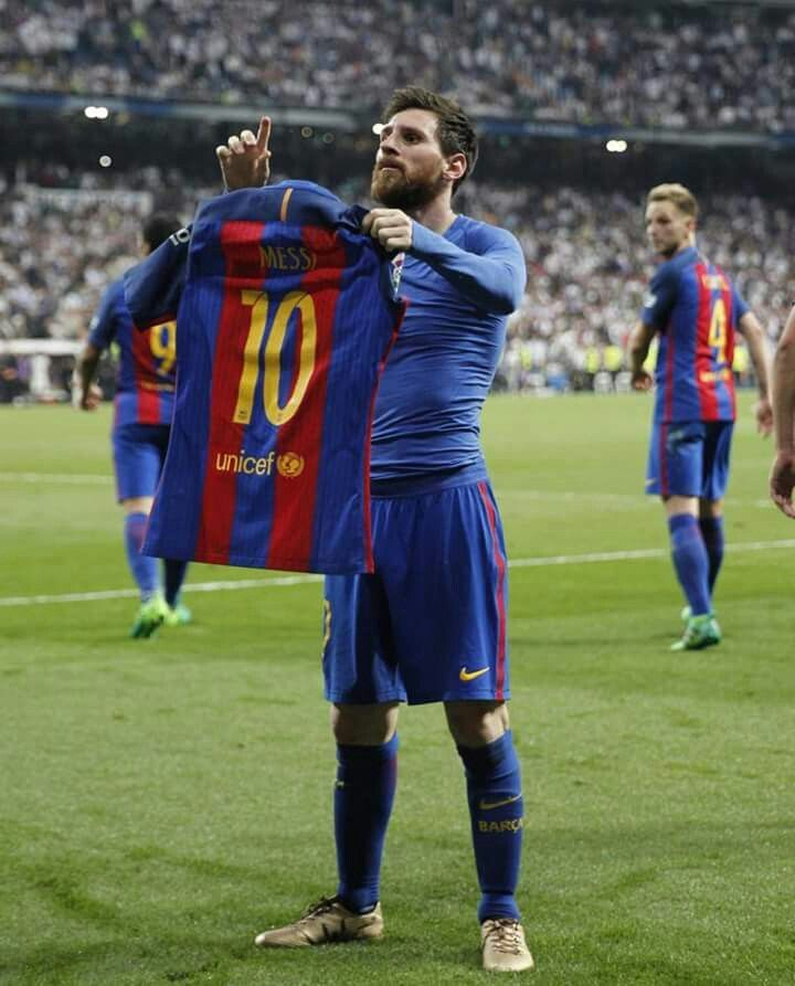 When Barca defeat real on their home ground because of Messi.