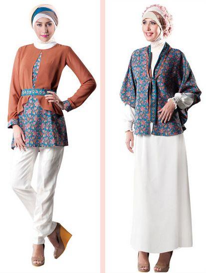 Baju Muslim Batik Wanita Modern
