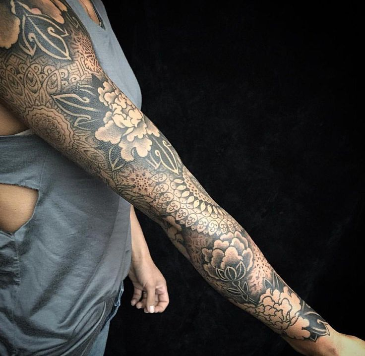 Tattoo Sleeve Filler Ideas For A Woman: Full Sleeve With Filler Ideas #Fullsleevetattoos