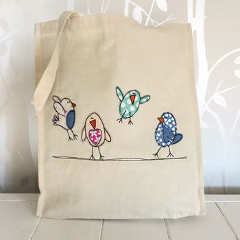 Bouncy Birds Canvas Shopper Bag