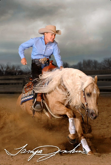 Tanya Jenkins, Professional Reining Horse Trainer and Multiple NRHA Open Futurity and Derby Finalist. This Is My Horse™