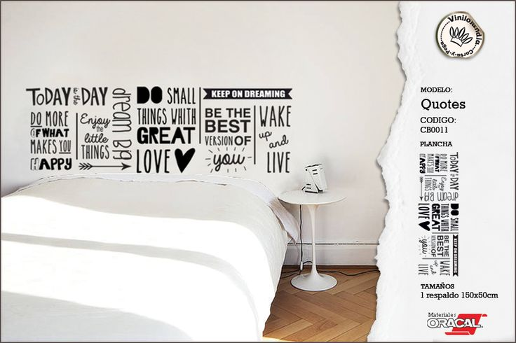 Quotes wall decal - Words wall decal  Vinilo decorativo frases