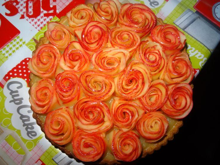 tarte aux pommes fa on rose un amour de cuisine tarte. Black Bedroom Furniture Sets. Home Design Ideas