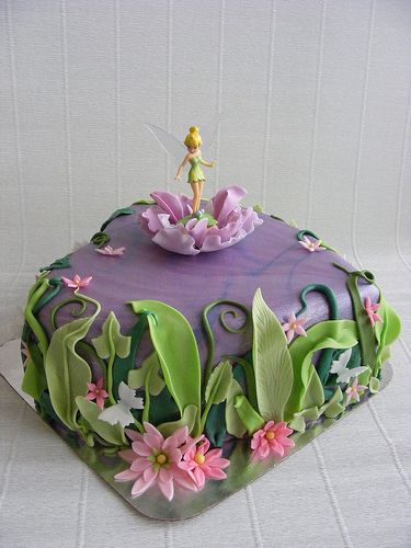 Tinkerbell cake I actually have a cake topper that would be perfect for this cake design