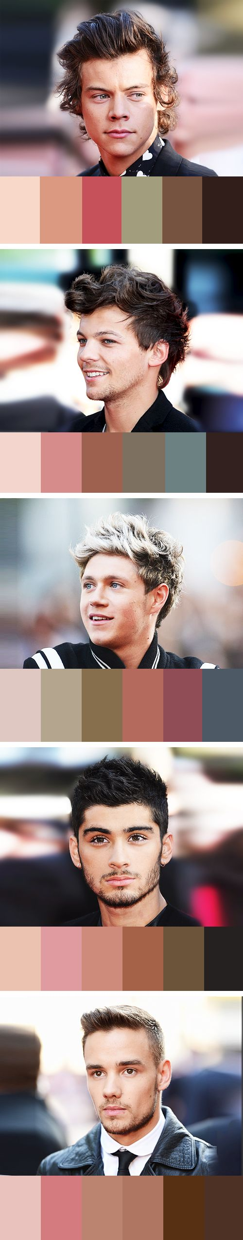 One Direction did this just make them into color schemes