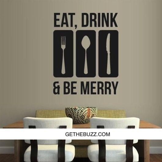 Eat Drink Be Merry Vinyl Decal